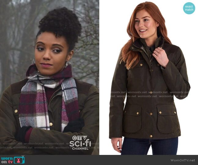Dene Waxed Jacket by Barbour  worn by Charlie (Maisie Richardson-Sellers) on Legends of Tomorrow