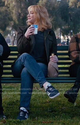 Beth's blue suede sneakers on Good Girls