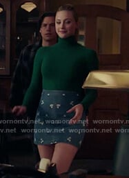 Betty's floral embroidered denim mini skirt on Riverdale