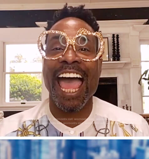 Billy Porter's nautica print shirt on The View