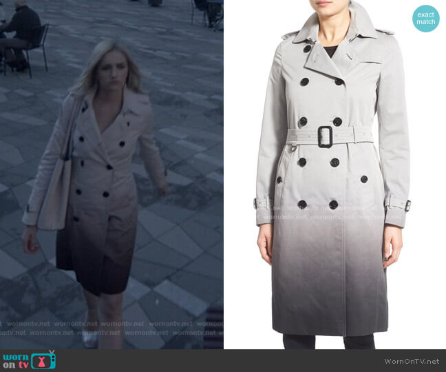 Kensington Ombré Double Breasted Trench Coat by Burberry worn by Brianne Howey on Batwoman