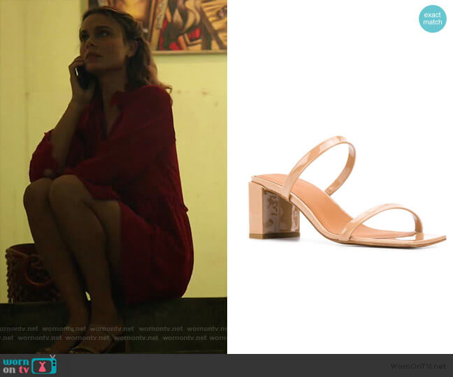 Tanya Sandals by By Far worn by Noa Hamilton (Nathalie Kelley) on The Baker & the Beauty