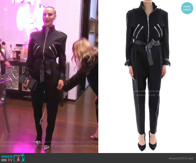 New Wave Zipped Jumpsuit by Celine worn by Dorit Kemsley  on The Real Housewives of Beverly Hills