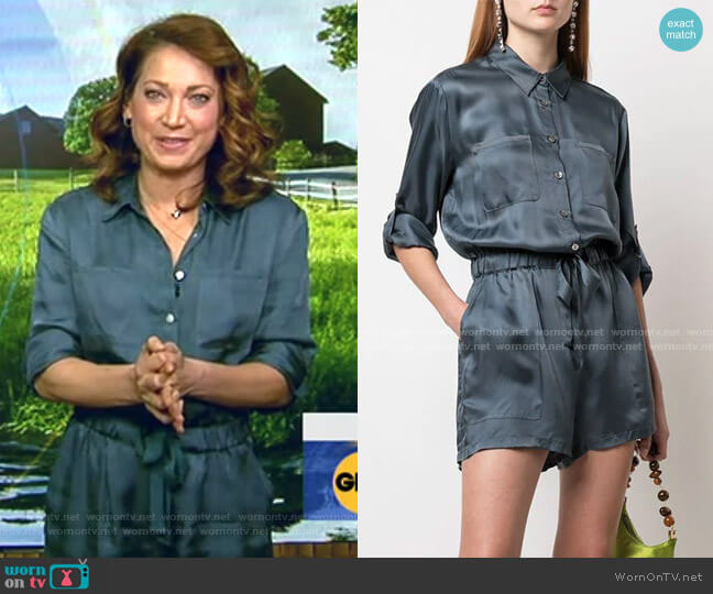Giles Romper by Cinq a Sept worn by Ginger Zee  on Good Morning America