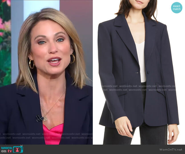 Kym Zip Cuff Blazer by Cinq a Sept worn by Amy Robach  on Good Morning America