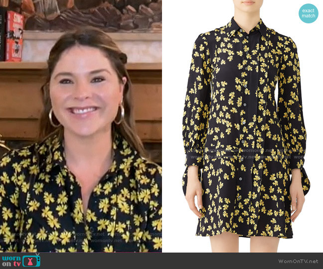 Pleated Floral Shirtdress by Derek Lam worn by Jenna Bush Hager  on Today