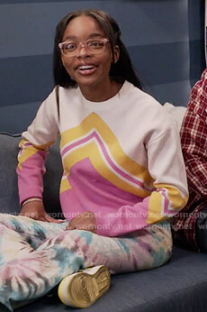 Diane's white chevron sweater on Black-ish