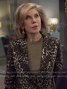 Diane's leopard print blazer on The Good Fight