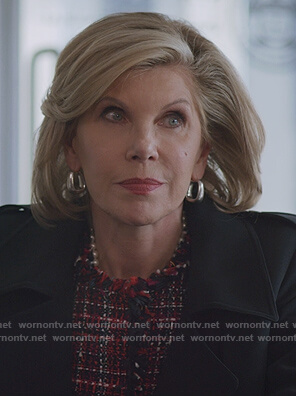 Diane's red tweed blazer on The Good Fight