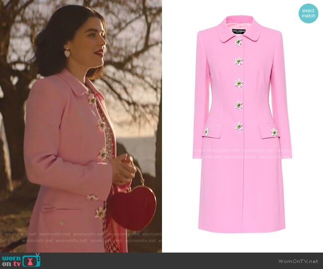 Embellished Wool Coat by Dolce & Gabbana worn by Katy Keene (Lucy Hale) on Katy Keene