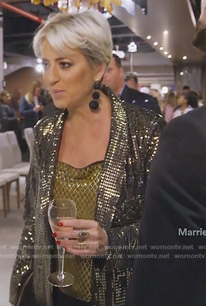 Dorinda's sequin blazer and cami on The Real Housewives of New York City