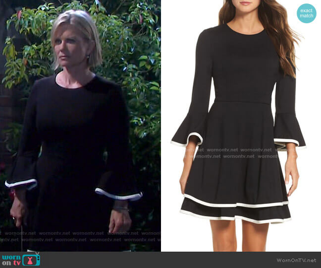 Bell Sleeve Fit & Flare Dress by Eliza J worn by Kayla Brady (Mary Beth Evans) on Days of our Lives