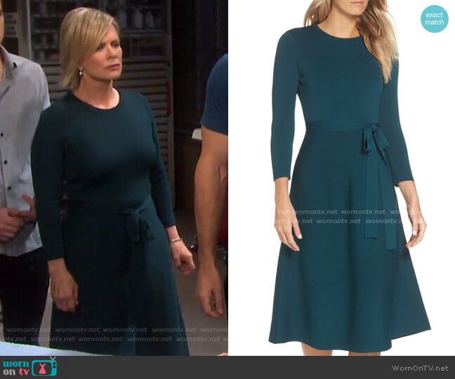 Fit & Flare Sweater Dress by Eliza J worn by Kayla Brady (Mary Beth Evans) on Days of our Lives
