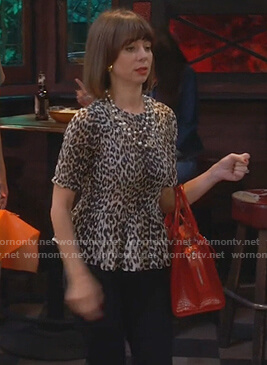 Elizabeth's leopard smocked top on Broke