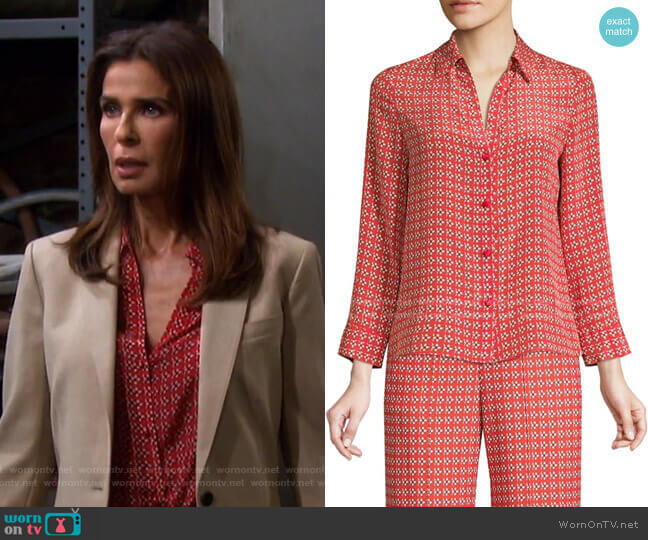 Eloise Blouse by Alice + Olivia worn by Hope Williams (Kristian Alfonso) on Days of our Lives