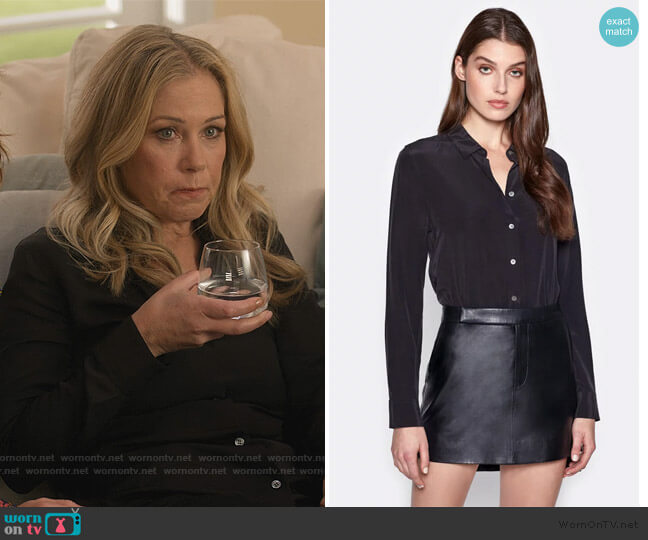 Essential Silk Blouse by Equipment worn by Jen Harding (Christina Applegate) on Dead to Me