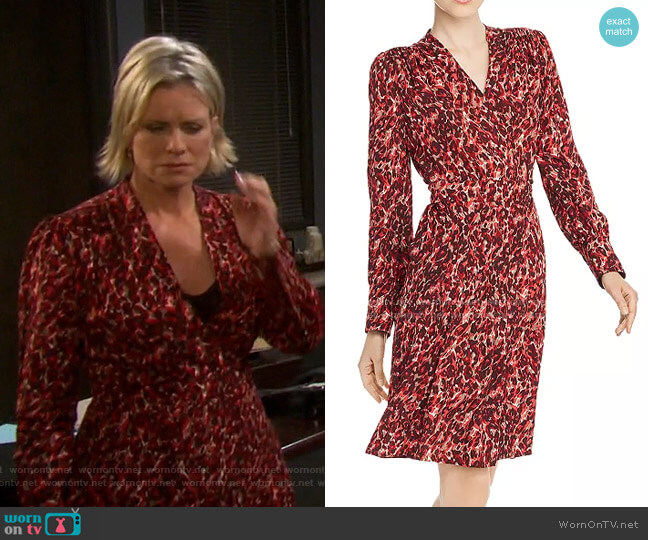 Jenesse Leopard-Print Wrap Dress by Equipment worn by Kayla Brady (Mary Beth Evans) on Days of our Lives
