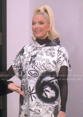 Erika's graffiti print hoodie on The Real Housewives of Beverly Hills