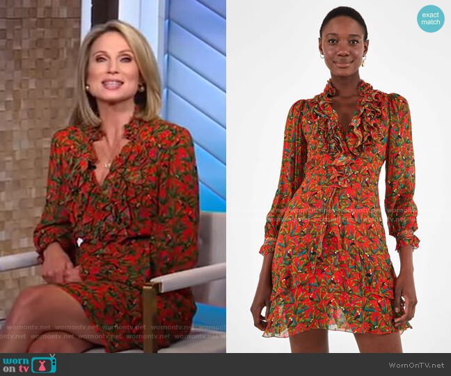 Tucano Paradise Mini Dress by Farm Rio worn by Amy Robach  on Good Morning America