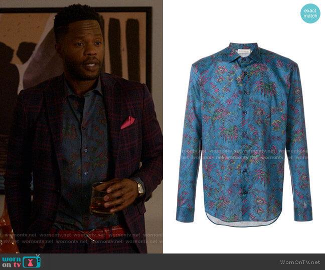 Floral Shirt by Etro worn by Jeff Colby (Sam Adegoke) on Dynasty