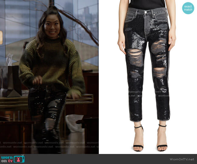 Sequin Jeans by Frame worn by Mary Hamilton (Nicole Kang) on Batwoman