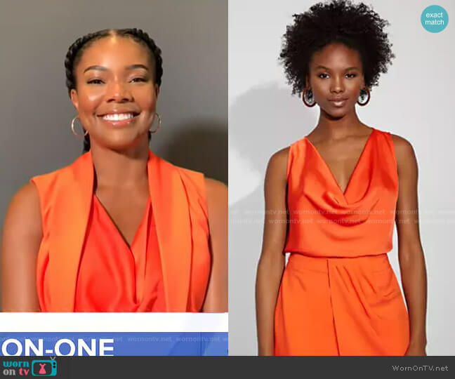 Cowl-Neck Top - Gabrielle Union Collection by New York & Company on GMA