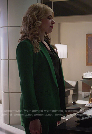 Gamemnae's green blazer on Supergirl