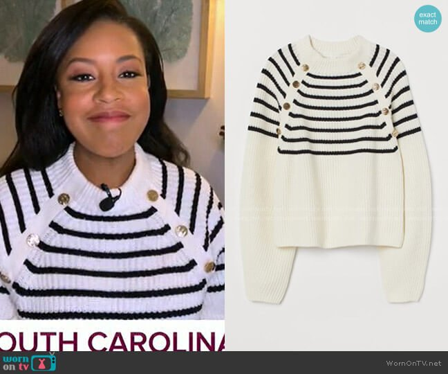 Ribbed Jumper by H&M worn by Sheinelle Jones  on Today