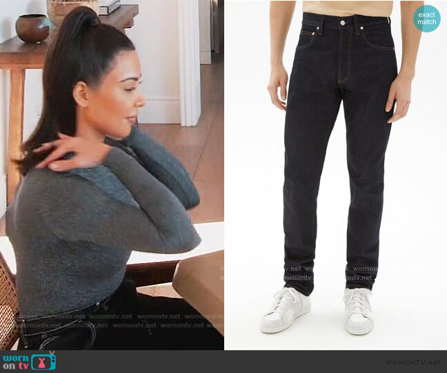 Masc Hi Straight Jeans by Helmut Lang worn by Kim Kardashian  on Keeping Up with the Kardashians