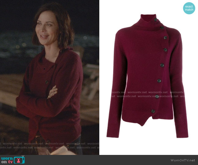 Asymmetric Cashmere Cardigan by Isabel Marant worn by Cassandra Nightingale (Catherine Bell) on Good Witch