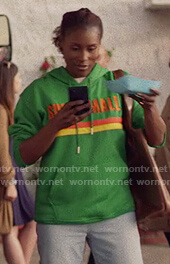 Issa's green Super Mall Hoodie on Insecure