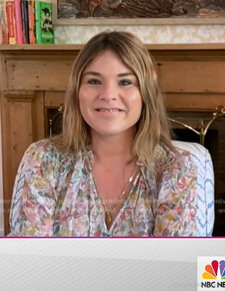 Jenna's floral print tie neck blouse on Today