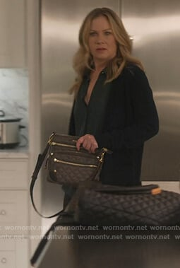 Jen's quilted cross body bag on Dead to Me