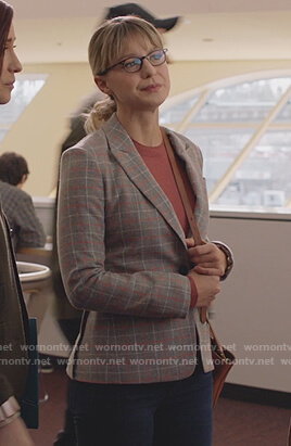 Kara's plaid blazer on Supergirl