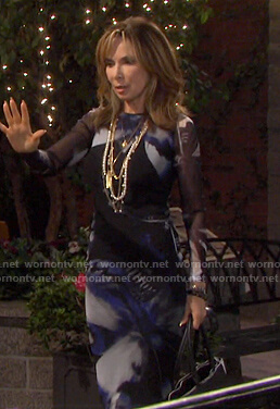 Kate's lack butterfly print long sleeve dress on Days of our Lives
