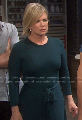 Kayla's green tie waist knit dress on Days of our Lives