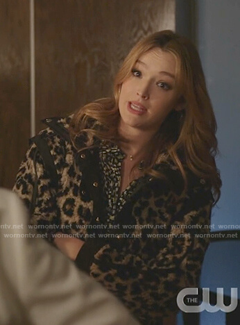 Kirby's leopard fur jacket on Dynasty