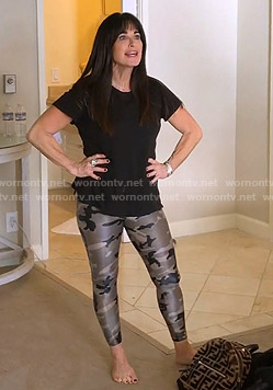 Kyle's camo leggings on The Real Housewives of Beverly Hills