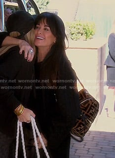 Kyle's Fendi backpack on The Real Housewives of Beverly Hills