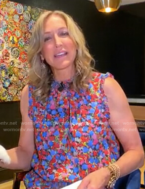 Lara's floral mock neck top on Good Morning America