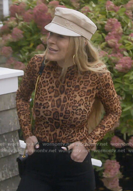 Leah's leopard print bodysuit on The Real Housewives of New York City