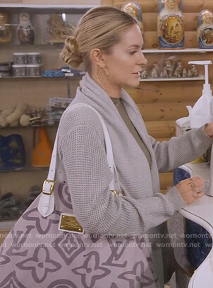 Leah's pink Louis Vuitton canvas bag  on The Real Housewives of New York City