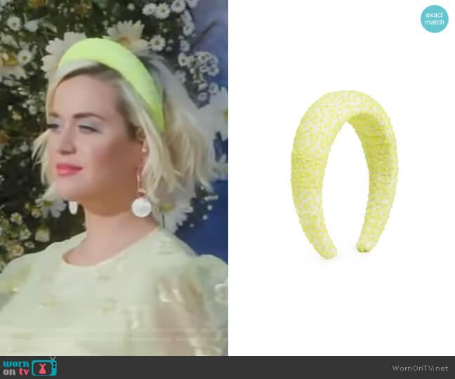 Padded Headband by Lelet NY worn by Katy Perry on GMA