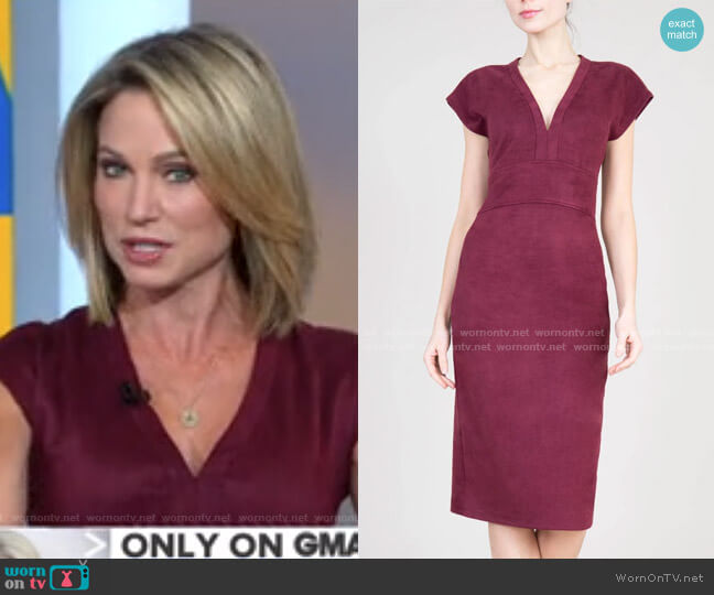 Yvonne Dress by Level 99 Jeans worn by Amy Robach  on Good Morning America