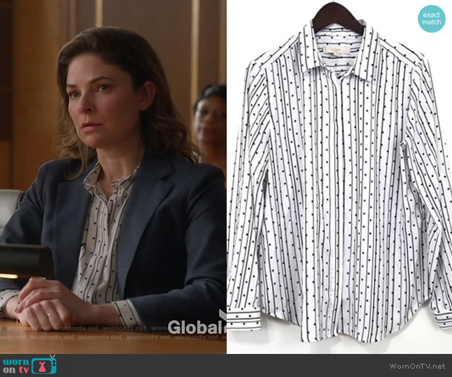 Striped Polka Dot shirt by Loft worn by Taylor Rentzel (MacKenzie Meehan) on Bull