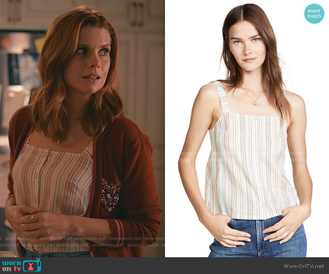 Button Front Cami Tank by Madewell worn by Maddie Townsend (JoAnna Garcia Swisher) on Sweet Magnolias