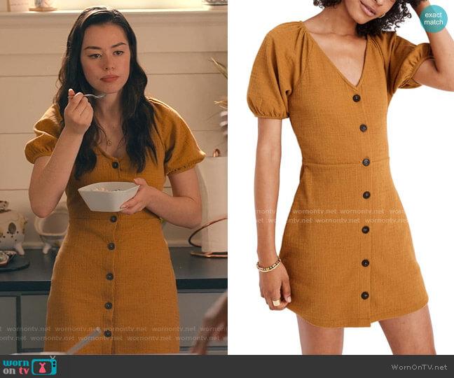 Texture & Thread Puff Sleeve Dress by Madewell worn by Annie Sullivan (Anneliese Judge) on Sweet Magnolias
