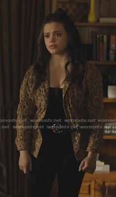 Maggie's leopard print jacket on Charmed