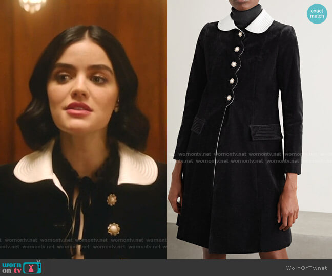 The Sunday Best Coat by Marc Jacobs worn by Katy Keene (Lucy Hale) on Katy Keene