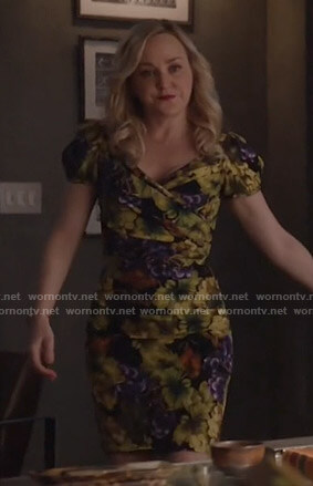 Marissa's grape print dress on Bull